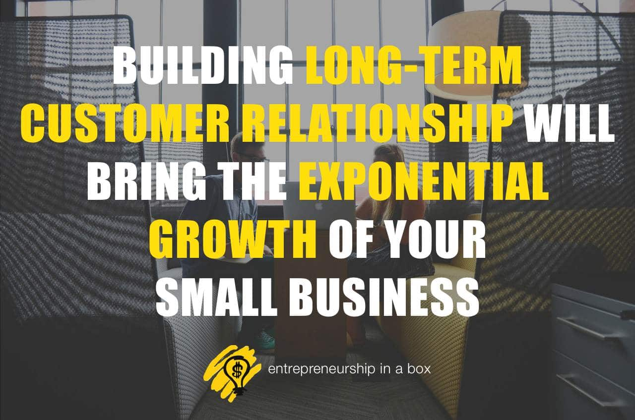 building long-term customer relationship