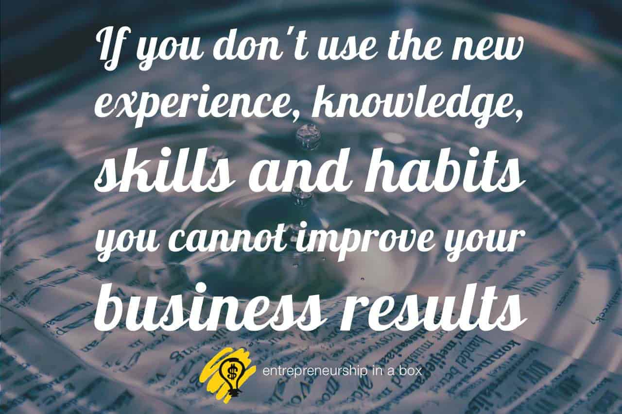 business improvements new competence